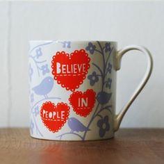 believe in people mug