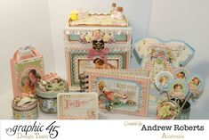 Little Darlings Baby Shower Favors by Andrew, isn't this set amazing? #graphic45