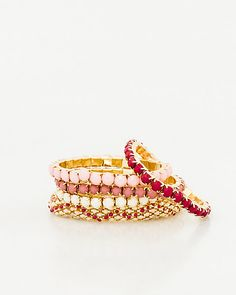 Add a pop of colour to your looks with this multi-strand bracelet from @lechateau!