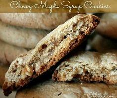 Chewy Maple Syrup Cookies