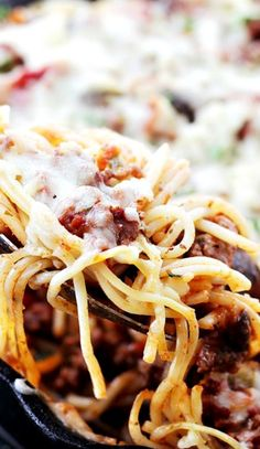 Spaghetti Beef Casserole [ CaptainMarketing.com ] #food #online #marketing