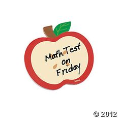 Apple-Shaped Sticky Notes