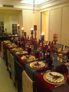 table decor, rosh hashanah table decor, morocco theme table,