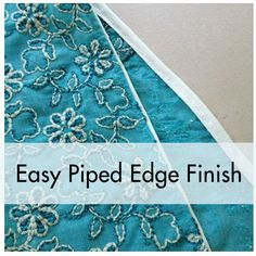 PatternReview Blog > Tip: Creating an Easy Piped Edge Finish