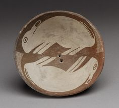 Bowl with Pair of Rabbits, mid-9th–12th century, Mimbres peoples, New Mexico