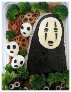 No-Face and Friends Bento Box Recipe