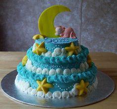 stars and moon cake