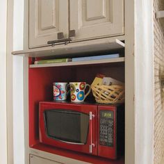 Hide a microwave cabinet - kitchen