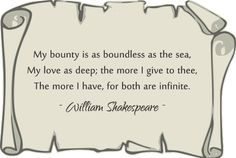 Favorite Shakespeare quote