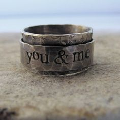 Rustic Spinner Ring  personalized by tinahdee on Etsy, $95.00