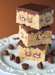 Peanut Butter & Chocolate Rice Crispy Treats!