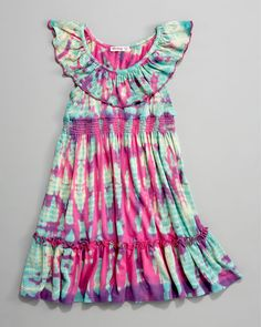 Little Ella Moss Tie-Dye Festival Dress