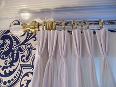 DIY acrylic drapery rods