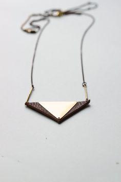 Gorgeous geometric + leather jewelry.