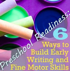 6 drawing and craft activities that build your preschooler's fine motor skills, in our #LearningToolkit blog. Click for more.