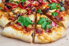 Balsamic Strawberry and Chicken Pizza with Sweet Onions and Smoked Bacon
