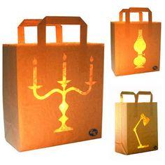 DIY Inspiration: Bag Lights Using LED Battery Tea Lights