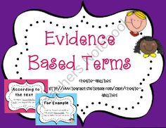 Evidence Based Terms! CCSS: Guided Reading, Literature Circles, Whole Class from Create abilities on TeachersNotebook.com -  (12 pages)  - Evidence Based Terms! CCSS: Guided Reading, Literature Circles, Whole Class