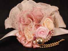 Vintage Style Dusty Pink and Ivory Wedding, Bridal Shower or Prom Wrist Corsage
