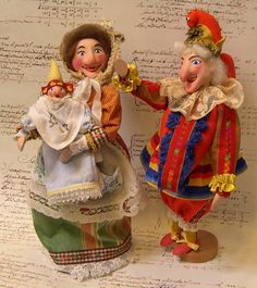 Punch and Judy with the baby