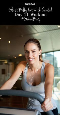 20 minutes of cardio intervals followed with 10 minutes of core work! #bikinibody