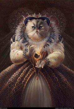 Commission: Cat Queen by AerlChristian.deviantart.com on @deviantART
