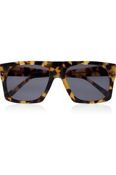Illesteva|Evelyn square-frame acetate sunglasses|
