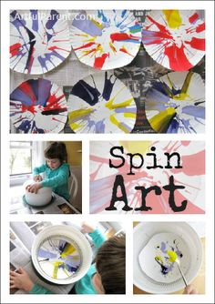 Spin Painting :: An Awesome Kids Art Activity