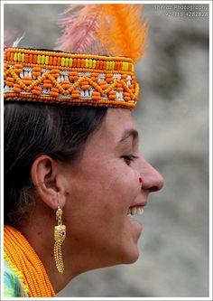 Lovely smile of Kalash Girl.