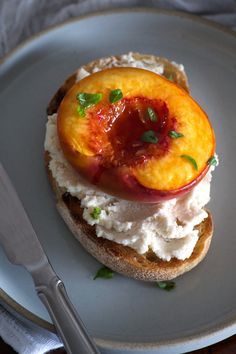 Roasted Peach Toasts