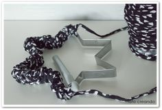 Turn old cookie cutters into ornaments...crochet it, wrap it...ribbon, yarn, buttons...