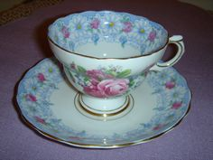 Rosina Bone China Cup and Saucer, England. $20