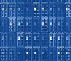 Disappearing Tardis fabric by ineedewe on Spoonflower - custom fabric