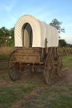 Replica Wagon on Oregon Trail