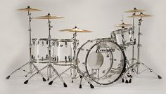 Acrylic just seems right sometimes. Ludwig Vistalite Kit (Clear)