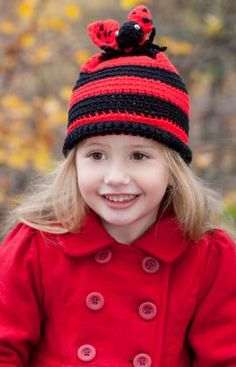 Lady Bug Hat Crochet Pattern