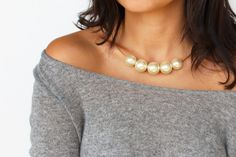DIY Statement Pearl Necklace