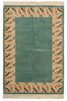 Aubousson Harrir Silk Rug In Aqua And Light Blue
