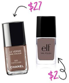 Splurge vs Steal: ELF Makeup Dupes You Can't Resist. While you might need an extra coat of the ELF, you won't be able to tell it apart from the Chanel Splurge Vs Steal Makeup, Nail Polish, Makeup Dupe