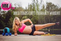 Inner Thighs & Butt #Pregnancy #Workout. These 4 #PREGNANCY #EXERCISES make for one effective and safe workout. Lots of great Pregnancy Workouts in this blog.