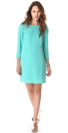 Turquoise shift dress