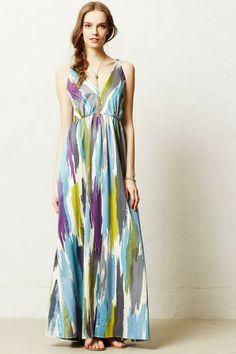 maxi dresses, watercolor maxi, brushstrok maxi