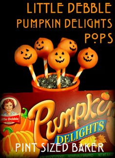 Pint Sized Baker: Little Debbie Pumpkin Delights Cake Pops