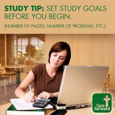 Face Forward Study Tips
