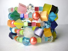 SUGAR CUBE Atomic TWISTER  Delicious Colorful by LyndaHayesDesigns, $125.00