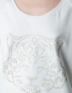 SUDADERA TIGRE POLIPIEL - Camisetas - Mujer - ZARA