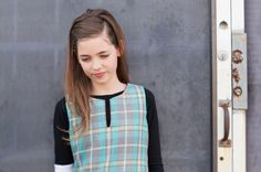 Plaid with black and white - tween fashion #kidsclothing www.froskwear.com