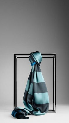 Burberry Striped Silk Scarf