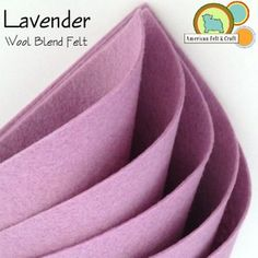 Lavender Felt one of over 140 colors from American Felt and Craft. Ships worldwide.