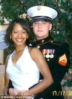 Horror: Sergeant Jan Pietrzak, 24, and his wife Quiana Jenkins-Pietrzak, 26, were bound and gagged before being shot in the head